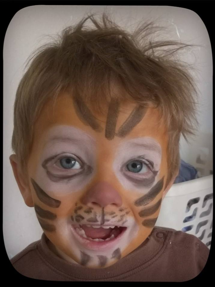maquillage tigre avec maquillage bio namaki test baby no soucy