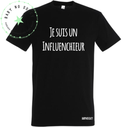 tee shirt blogueurinflenchieur noir baby no soucy