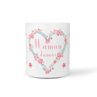 mug fleurs du coeur baby no soucy