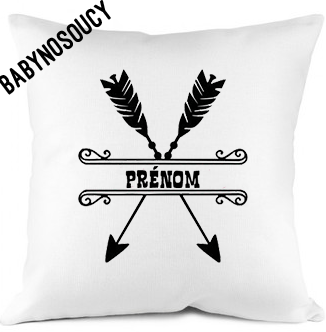 coussin prenom fleches baby no soucy