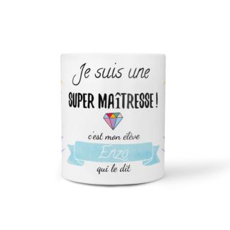 mug super maitresse crayons bleu baby no soucy