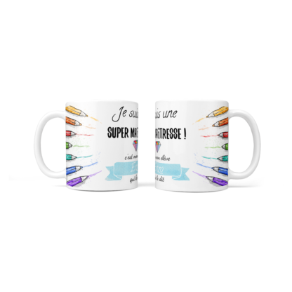 mug supermaitresse crayons bleu baby no soucy