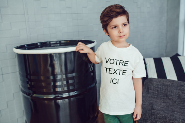 t-shirt enfant personnalisable baby no soucy
