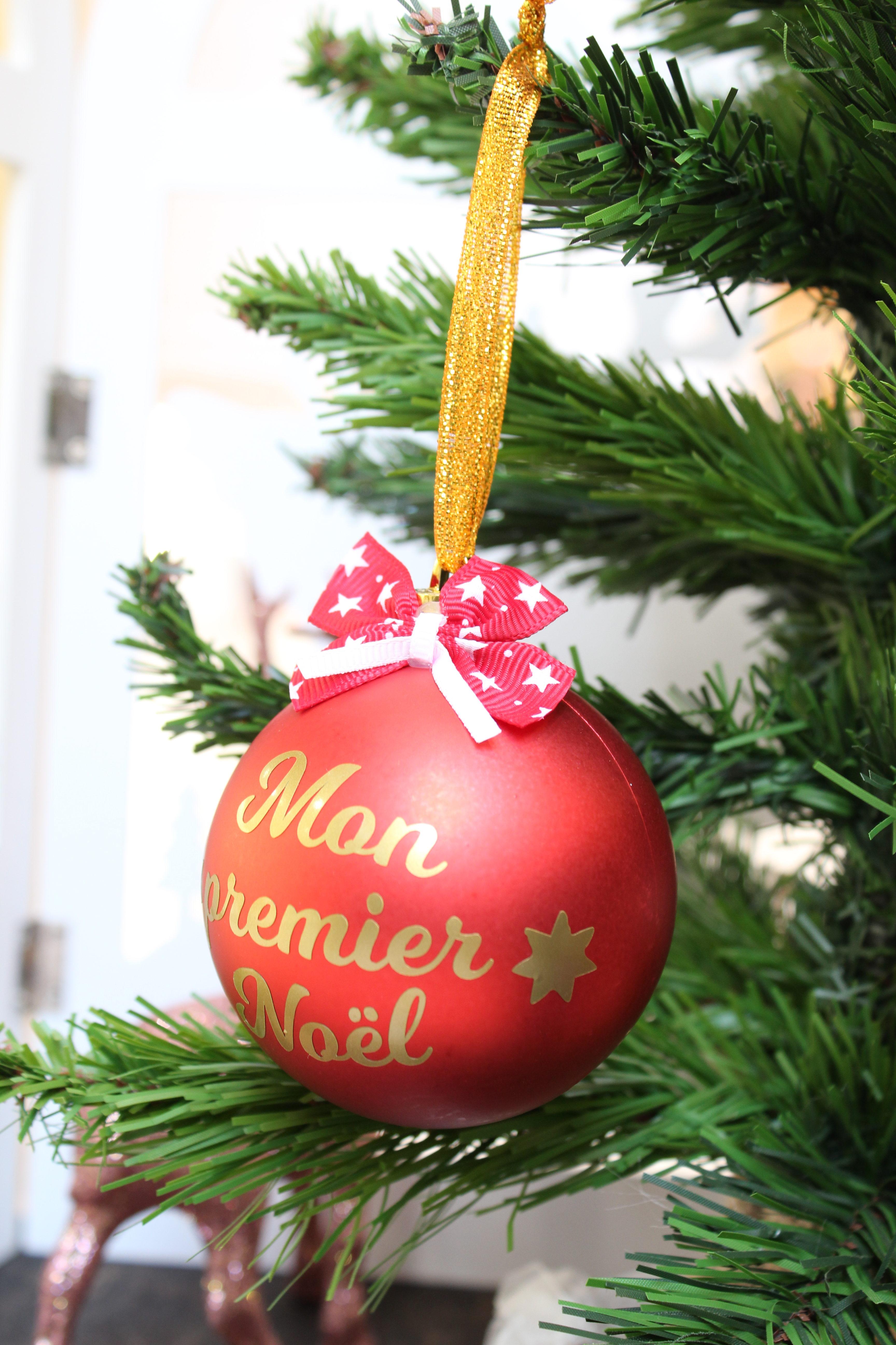 Boule Noel Personnalisée Boule de Noël personnalisée prénom Mon premier Noël 16