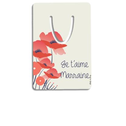 marque-page-aluminium-personnalise-marraine-coquelicot