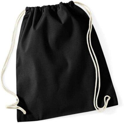 sac à dos personnalisable coton noir