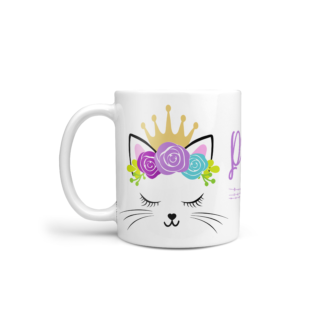 mug incassable personnalisable chat mignon couronne baby no soucy