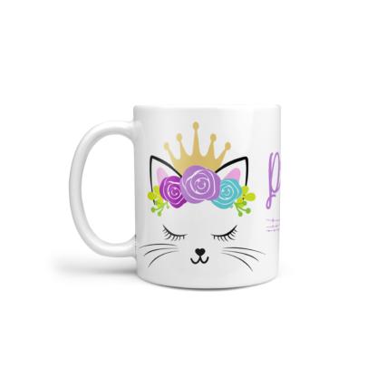 mug incassable personnalisable chat mignon couronne baby no soucy