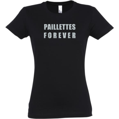 tee-shirt paillettes forever baby no soucy