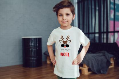 tee-shirt jpeux pas j'ai noel enfant