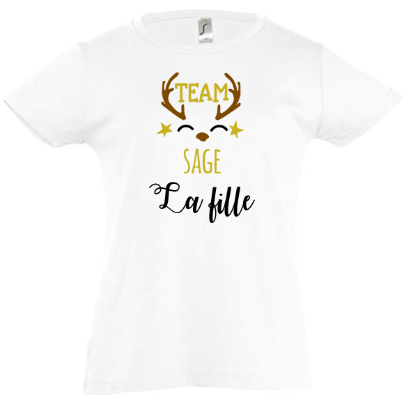 tee-shirt famille sage personnalisable fille