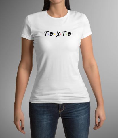 tee shirt friendly texte personnalisable